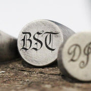 Custom Engraved Monogram Initial Silver Signet Ring
