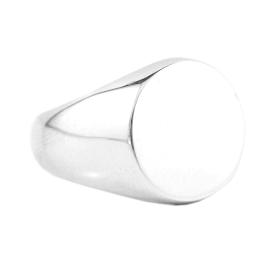 Man Signet Globe Ring Sterling Silver