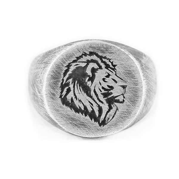 Lion Silver Mens Rings