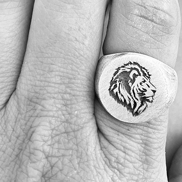 Lion Gold Mens Rings