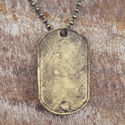 Carpe Diem Gold Personalize Dog Tag Necklace