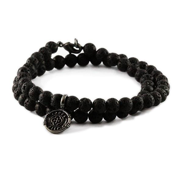 Carpe diem bracelet black silver beaded mens jewelry for Best mens jewelry sites