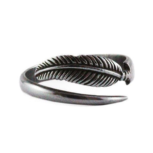 black feather ring