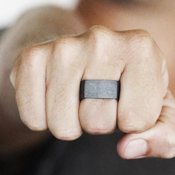 black oxidized ring