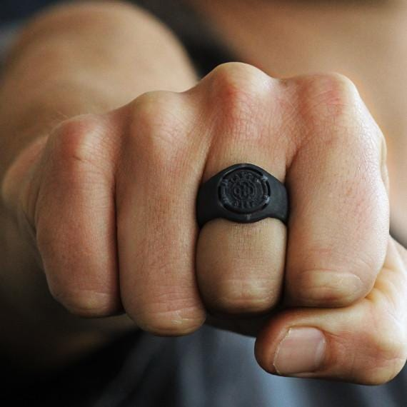 black signet ring