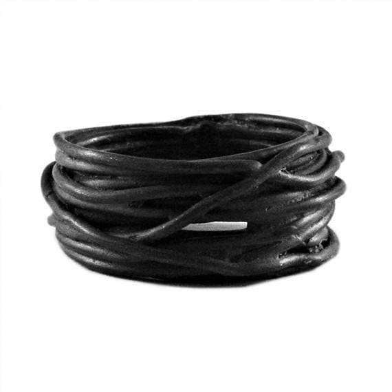 Black Wire Mens Rings