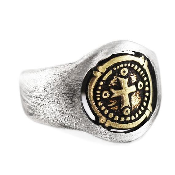 brushed signet ring