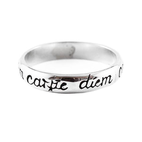 carpe diem gold ring