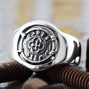 carpe diem coin signet ring