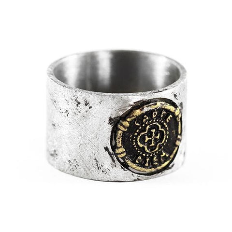 carpe diem rustic ring