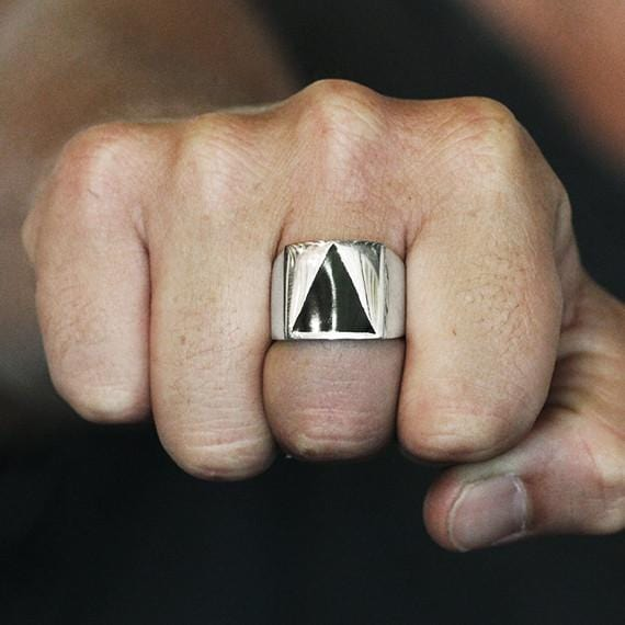 cool triangle ring