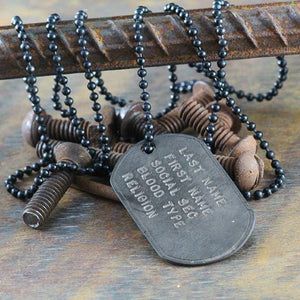 custom army necklace