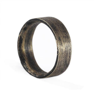 Brushed Bronze Mens Ring
