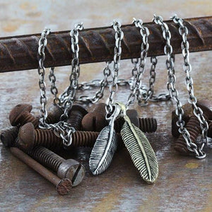 feather mens necklace