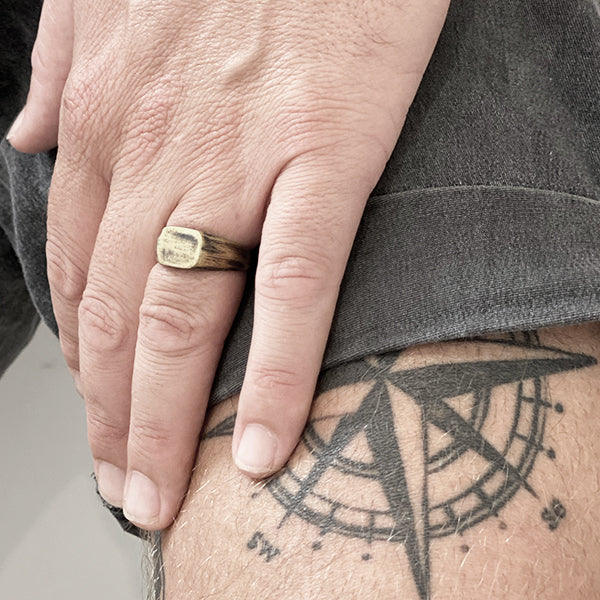 Mens Gold Custom Signet Ring