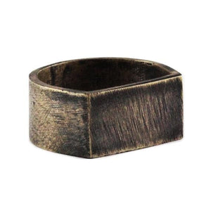 Brushed Bronze Mens Rings Cool Wedding Band