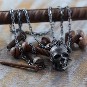 man skull necklace