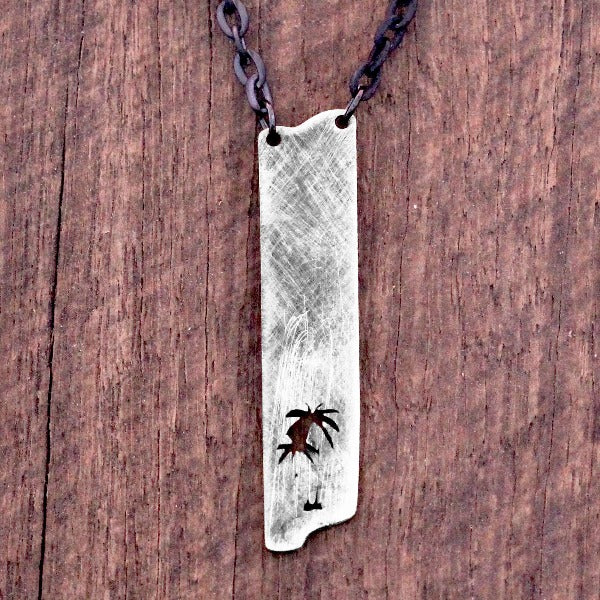 Palm Silver Necklace