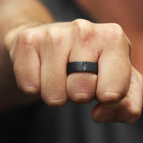 mens black ring