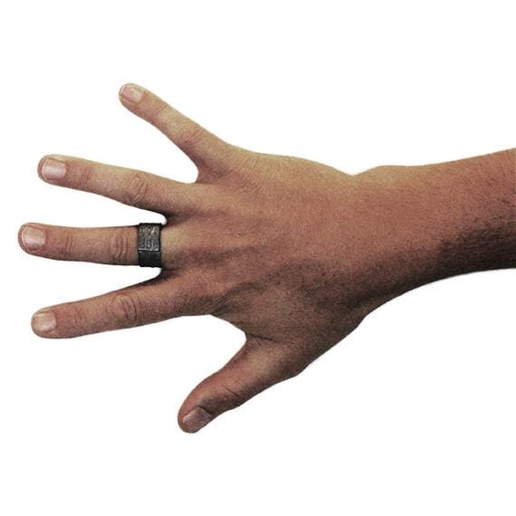 mens black rings