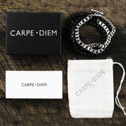 Carpe Diem Silver Man Beaded Bracelet