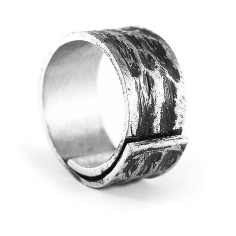 mens cool silver ring