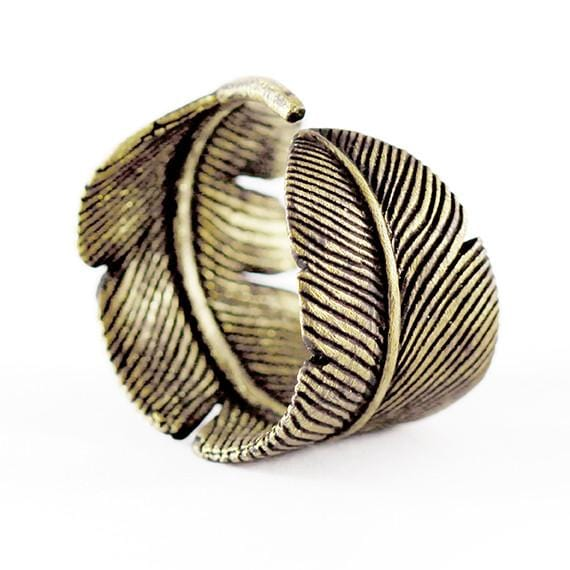 mens feather ring
