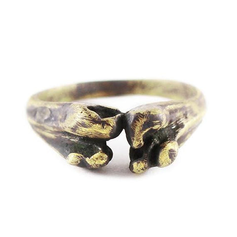 mens gold bone ring