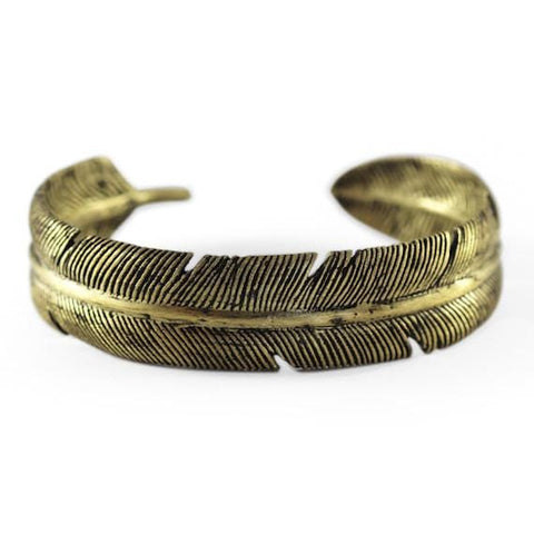 mens gold feather cuff