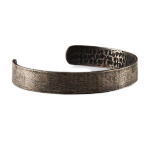Mens Oxidized Brushed Black Cuff
