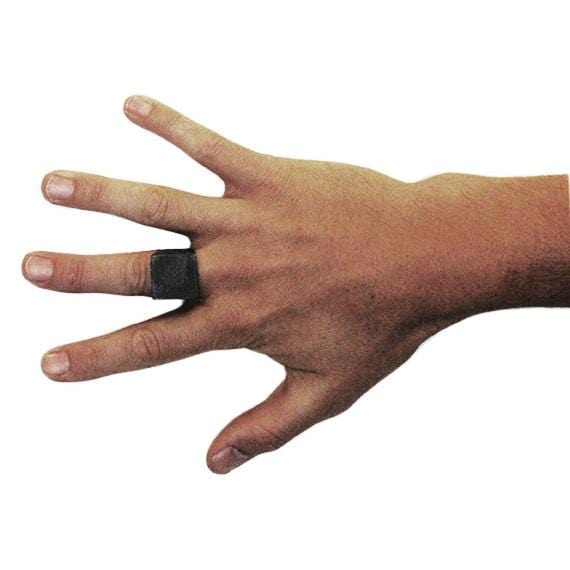 mens matte black ring