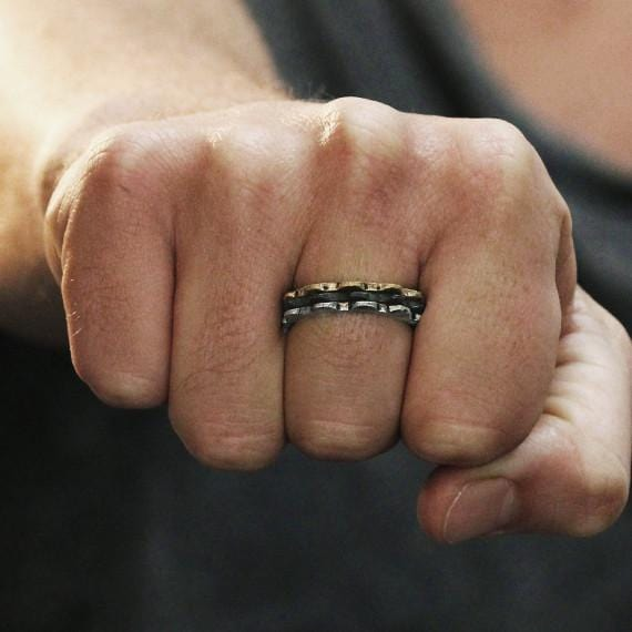 mens rustic rings