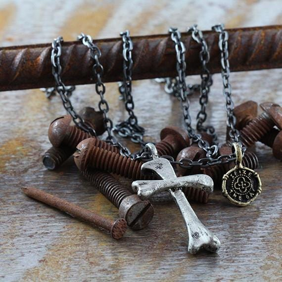 mens silver cross pendant