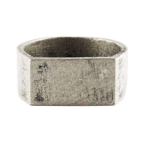 Personalized Engraved And Oxidized Silver Men's Wedding Band