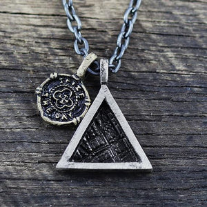mens triangle necklace