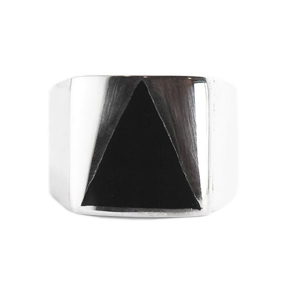 mens triangle ring