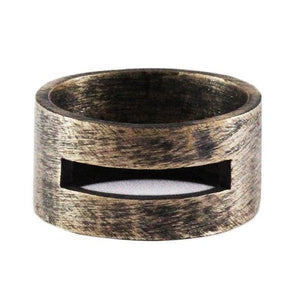 Brushed Bronze Man Ring