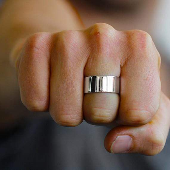 Sterling Silver Mens Customizable Ring