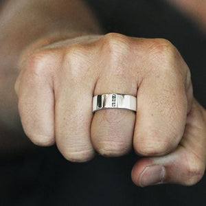 mens white gold ring