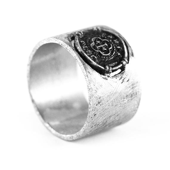 mens wide silver ring