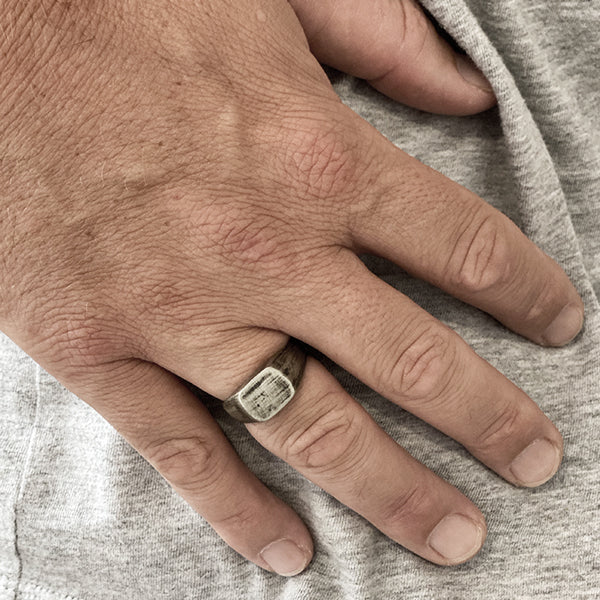 Mens Silver Custom Signet Ring