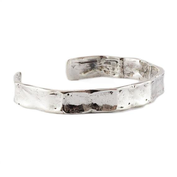 polished silver bangle