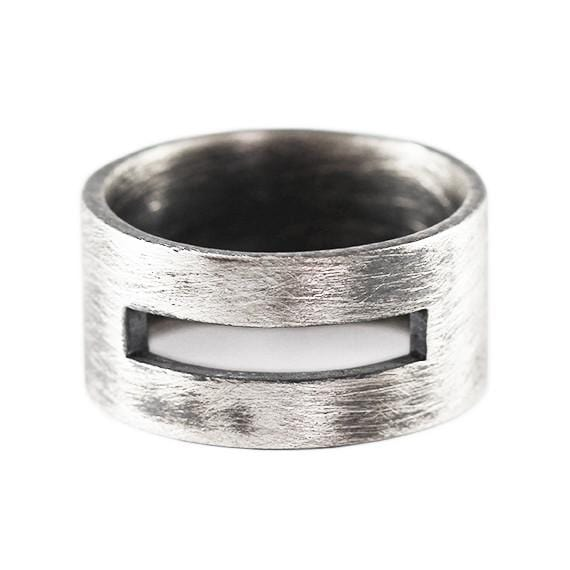 rustic silver ring