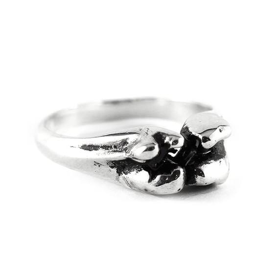 silver bone ring men