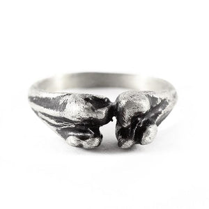 silver bone ring mens