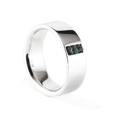 silver comfort fit ring
