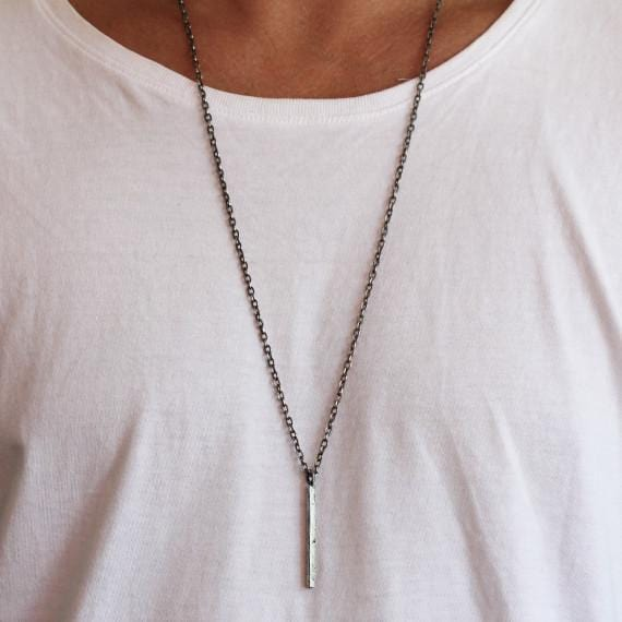 silver man necklace