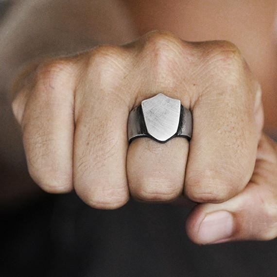 silver shield ring