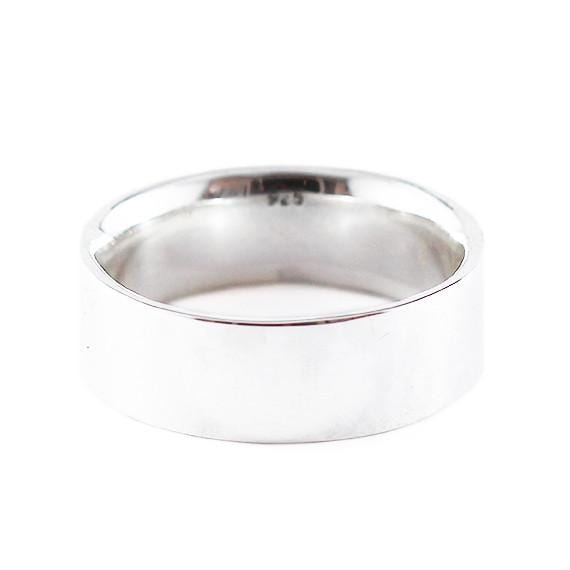 silver wedding band mens