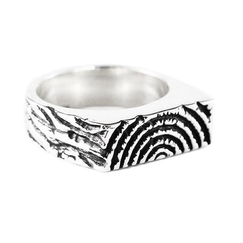 silver wood ring